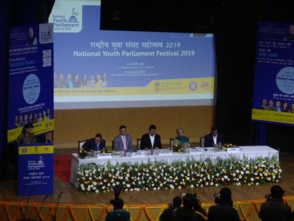 National Youth Parliament Festival 2019.... In the Presence of Minister of Youth Affairs and Sports -  Rajyavardhan Singh Rathore....Decor by flowerdecorin  Technical by-MS Production MSP