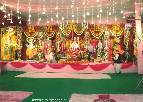 Devotional flower decoration photo gallery flower decor backdrop flower roll backdrop flower roll pandal and lighting decor altavistaventures Image collections