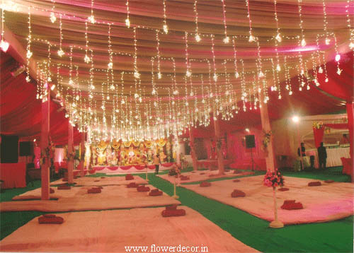 Pandal and lighting Decor