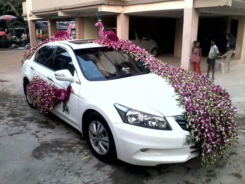 Car flower decoration photo gallery flower decor for Automobile decoration
